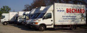 Camions de déménagement Béchard transports à Lyon